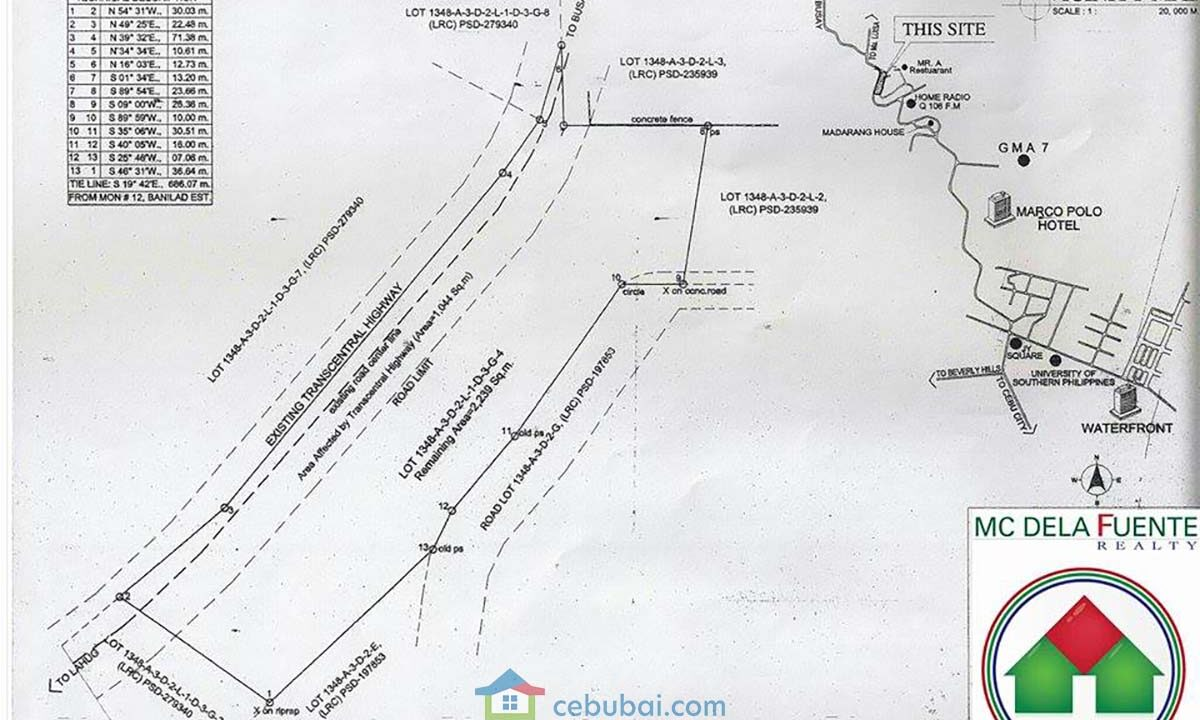 2239-SqM-Vacant-Lot-For-Sale-along-Busay-Transcentral-Highway-Cebu-City-Lot-Plan