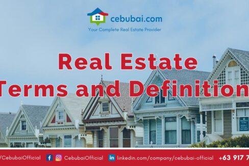 Cebubai Real Estate Terms and Definitions