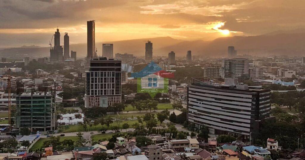 Cebu City Skyline Seen During Fantastic Sunset